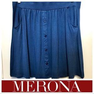 💥NWOT💥Merona Button-up Skirt w/Pockets